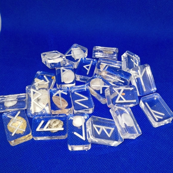 Sold!!!! Viking Rune set with real ocean shells